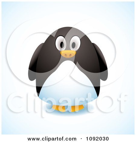 Clipart 3d Chubby Penguin - Royalty Free Vector Illustration by michaeltravers