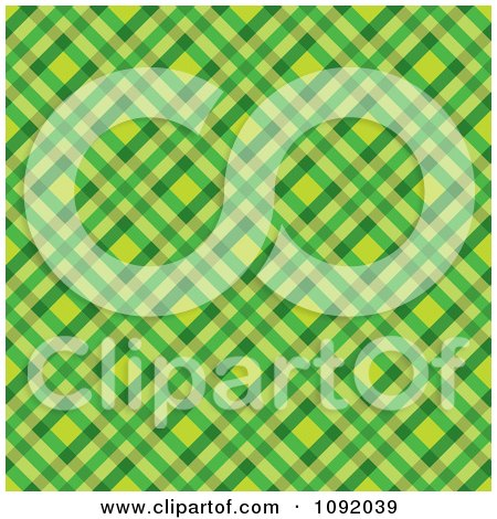 Clipart Green And Yellow Tartan Pattern Background - Royalty Free Vector Illustration by michaeltravers