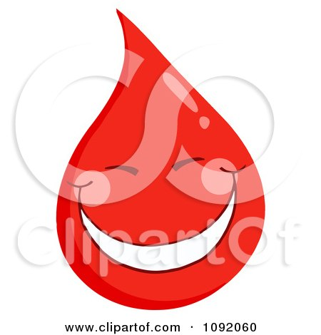 Clipart Blood Guy Smiling - Royalty Free Vector Illustration by Hit Toon