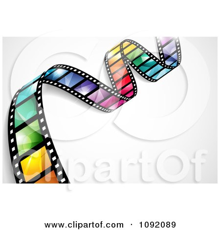 Clipart Waving Colorful Flare Film Strip With Shading And Gradients - Royalty Free Vector Illustration by TA Images