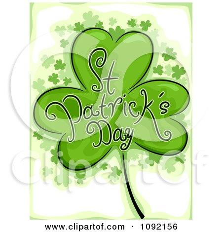 Clipart St Patricks Day Greeting Shamrock - Royalty Free Vector Illustration by BNP Design Studio