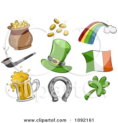 Clipart St Patricks Day Icons - Royalty Free Vector Illustration by BNP Design Studio