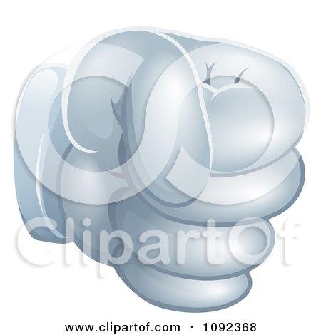 Clipart 3d Gloved Fist - Royalty Free Vector Illustration by AtStockIllustration