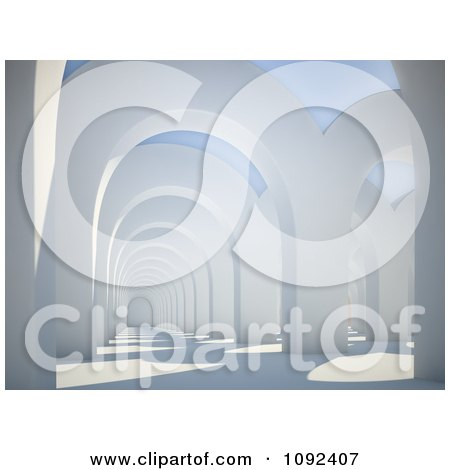 Clipart 3d Architectural Arches - Royalty Free CGI Illustration by Mopic