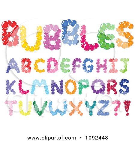 Clipart Colorful Bubble Capital Letter Design Elements - Royalty Free Vector Illustration by yayayoyo
