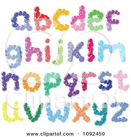 Clipart Colorful Bubble Lowercase Letter Design Elements - Royalty Free Vector Illustration by yayayoyo