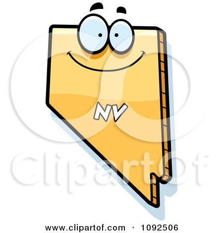 Clipart Happy Yellow Nevada State Character - Royalty Free Vector Illustration by Cory Thoman