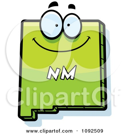 Clipart Happy Green New Mexico State Character - Royalty Free Vector Illustration by Cory Thoman