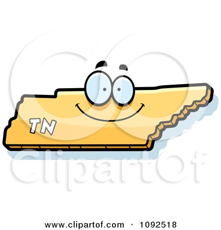 Clipart Happy Yellow Tennessee State Character - Royalty Free Vector Illustration by Cory Thoman