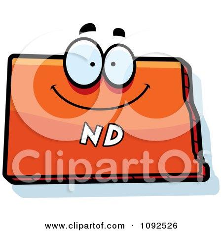 Clipart Happy Orange North Dakota State Character - Royalty Free Vector Illustration by Cory Thoman
