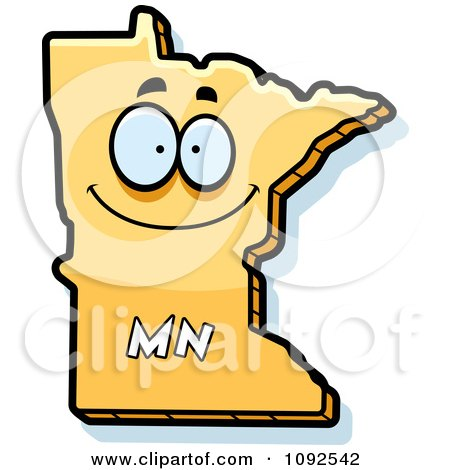 Clipart Happy Yellow Minnesota State Character - Royalty Free Vector Illustration by Cory Thoman