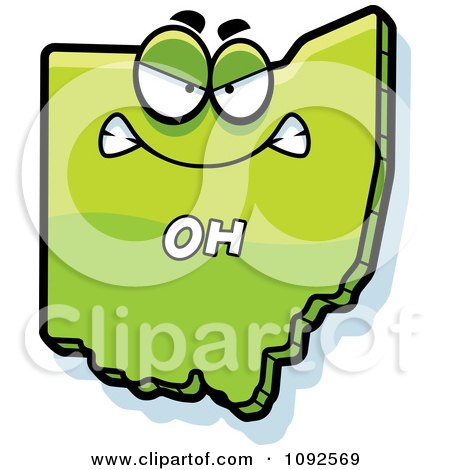Clipart Mad Green Ohio State Character - Royalty Free Vector Illustration by Cory Thoman