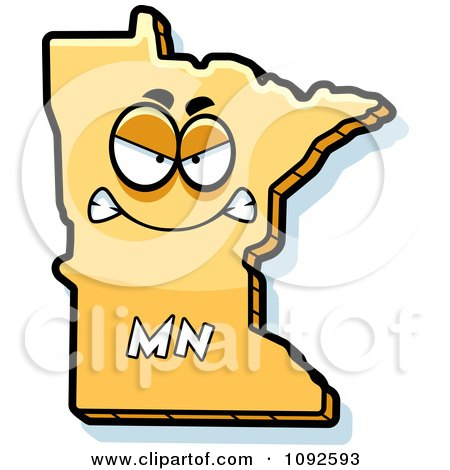 Clipart Mad Yellow Minnesota State Character - Royalty Free Vector Illustration by Cory Thoman