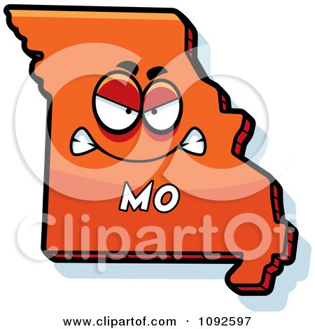 Clipart Mad Orange Missouri State Character - Royalty Free Vector Illustration by Cory Thoman