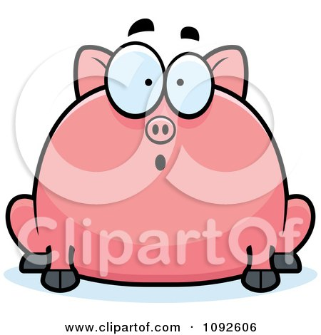 Royalty Free Rf Shocked Pig Clipart Illustrations