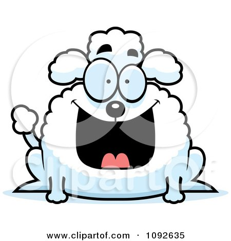 Clipart Chubby Grinning Poodle - Royalty Free Vector Illustration by Cory Thoman