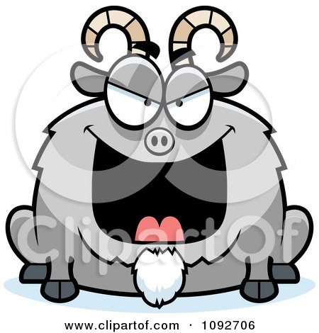 Clipart Chubby Evil Goat - Royalty Free Vector Illustration by Cory Thoman