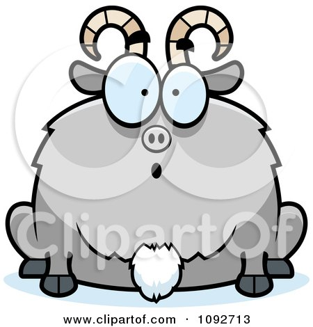 Clipart Chubby Surprised Goat - Royalty Free Vector Illustration by Cory Thoman