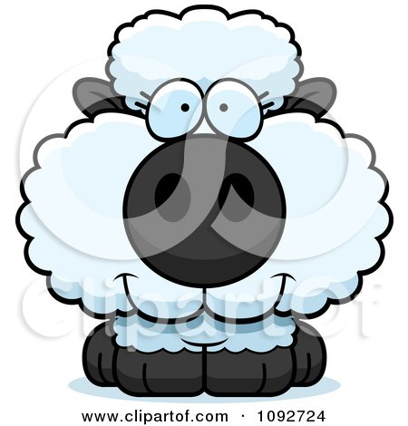 Clipart Cute Baby Sheep - Royalty Free Vector Illustration by Cory Thoman