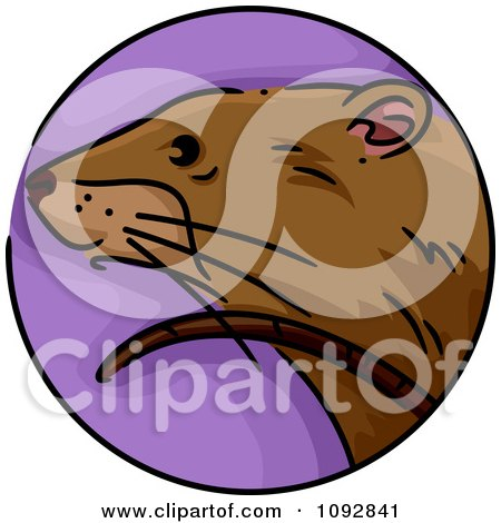 Clipart Rat Chinese Zodiac Circle - Royalty Free Vector Illustration by BNP Design Studio