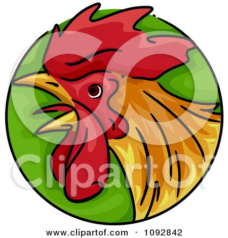 Clipart Rooster Chinese Zodiac Circle - Royalty Free Vector Illustration by BNP Design Studio