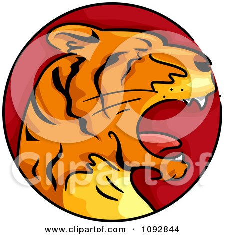 Clipart Tiger Chinese Zodiac Circle - Royalty Free Vector Illustration by BNP Design Studio
