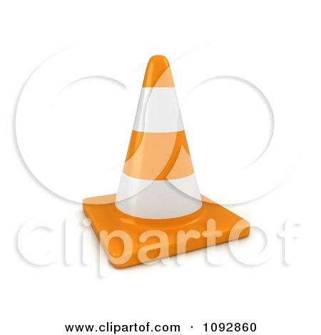 Clipart 3d Traffic Cone - Royalty Free CGI Illustration by BNP Design Studio