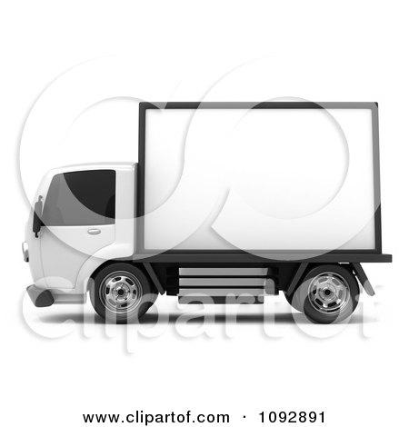 Clipart 3d Mobile Billboard Advertising Truck 1 - Royalty Free CGI Illustration by BNP Design Studio