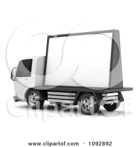 Clipart 3d Mobile Billboard Advertising Truck 2 - Royalty Free CGI Illustration by BNP Design Studio
