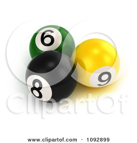 Clipart 3d Billiards Pool Balls - Royalty Free CGI Illustration by BNP Design Studio