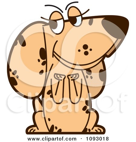 Clipart Begging Spotted Dog - Royalty Free Vector Illustration by Lal Perera
