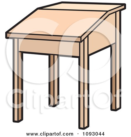 School Desk Clipart Top View