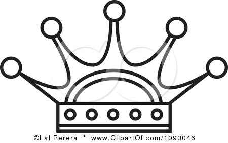 Clipart Outlined Royal Crown - Royalty Free Vector Illustration by Lal Perera