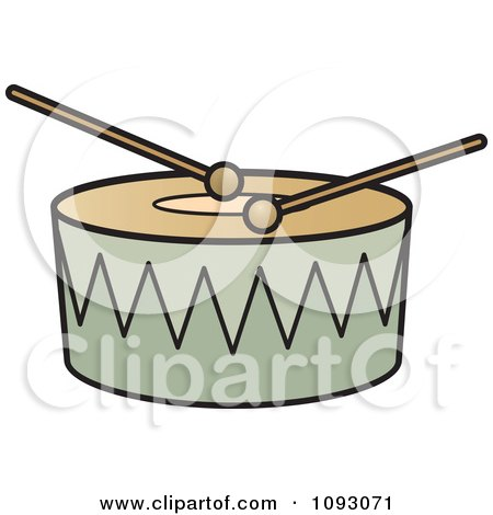 Clipart Sticks Resting On A Drum - Royalty Free Vector Illustration by Lal Perera