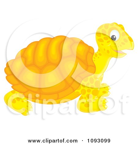 Clipart Happy Orange Tortoise - Royalty Free Illustration by Alex Bannykh