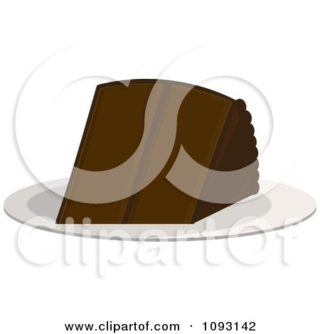 Clipart Serving Of Chocolate Cake - Royalty Free Vector Illustration by Randomway