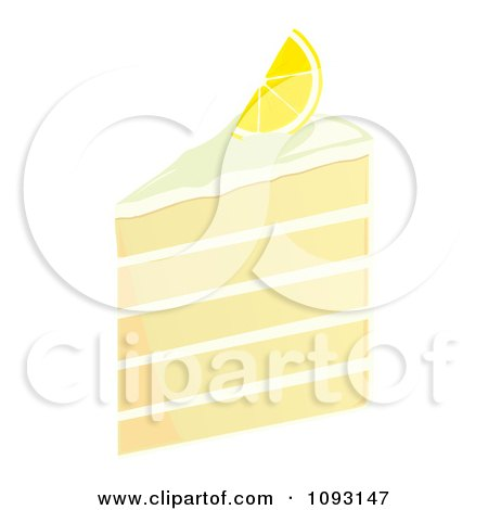Clipart Serving Of Five Layered Lemon Cake - Royalty Free Vector Illustration by Randomway