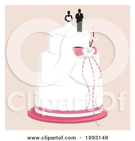 wedding cake toppers: Wedding Cake Bride And Groom Toppers