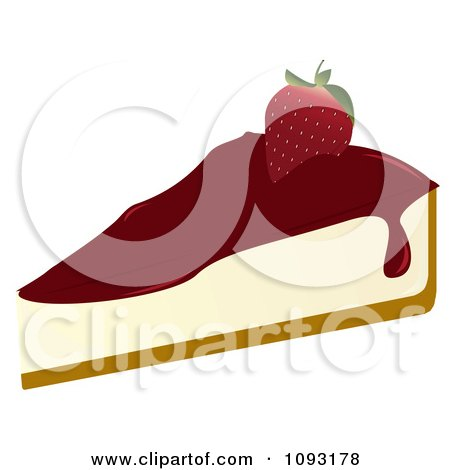 Clipart Serving Of Strawberry Cheesecake - Royalty Free Vector Illustration by Randomway