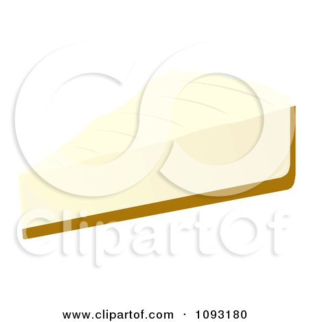 Clipart Serving Of Cheesecake - Royalty Free Vector Illustration by Randomway