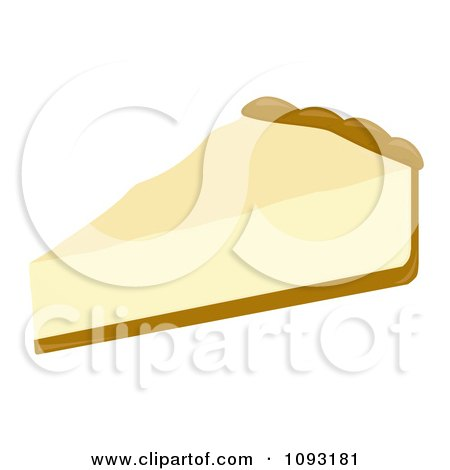 Clipart Serving Slice Of Cheesecake - Royalty Free Vector Illustration by Randomway