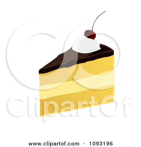 Clipart Serving Of Boston Cream Pie - Royalty Free Vector Illustration by Randomway
