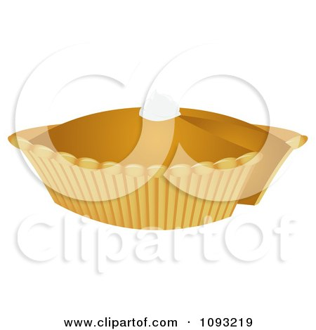 Clipart Pumpkin Pie 2 - Royalty Free Vector Illustration by Randomway