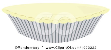 Clipart Uncooked Dough Over A Pie Pan - Royalty Free Vector Illustration by Randomway
