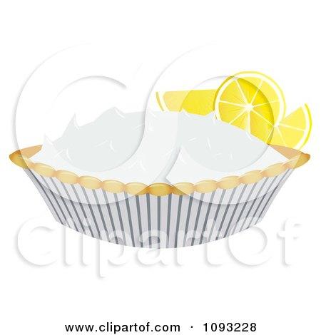 Clipart Lemon Meringue Pie 2 - Royalty Free Vector Illustration by Randomway