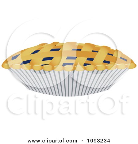Clipart Blueberry Pie With Woven Crust - Royalty Free Vector Illustration by Randomway