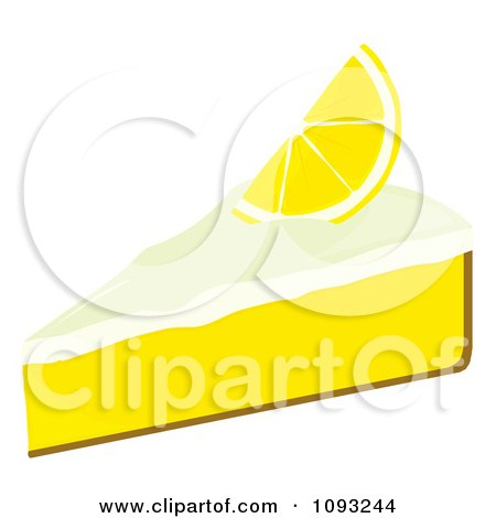 Clipart Slice Of Lemon Meringue Pie - Royalty Free Vector Illustration by Randomway