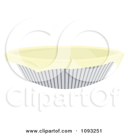 Clipart Dough In A Pie Pan - Royalty Free Vector Illustration by Randomway