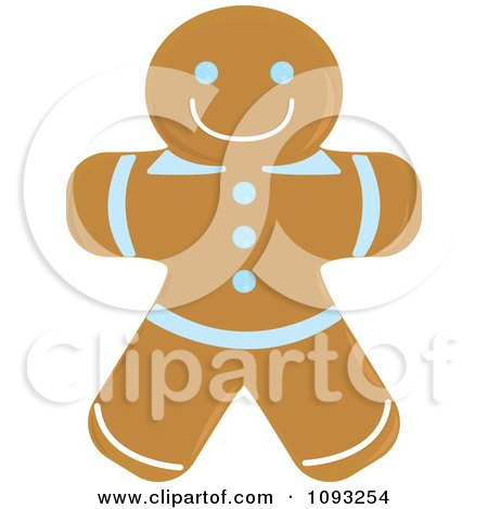 Clipart Gingerbread Man Cookie 1 - Royalty Free Vector Illustration by Randomway