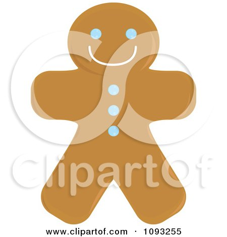 Clipart Gingerbread Man Cookie 2 - Royalty Free Vector Illustration by Randomway